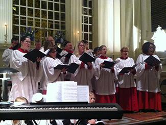Volunteer singers of the Christ Church choir