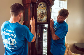 2 Dudes Moving A Grandfather Clock