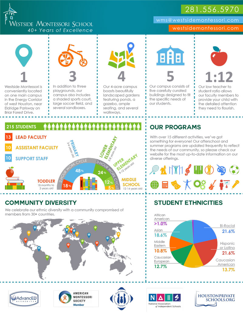 Westside Montessori School Houston Infographic