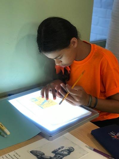 Light-Tracing-Technology-Middle-School-Westside-Montessori