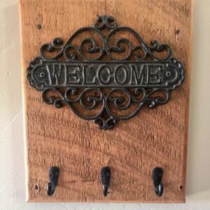 The Tilted Barn Welcome Sign Key Holder