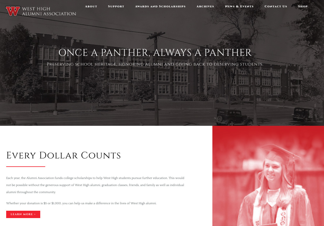 West High Alumni Association launches new website