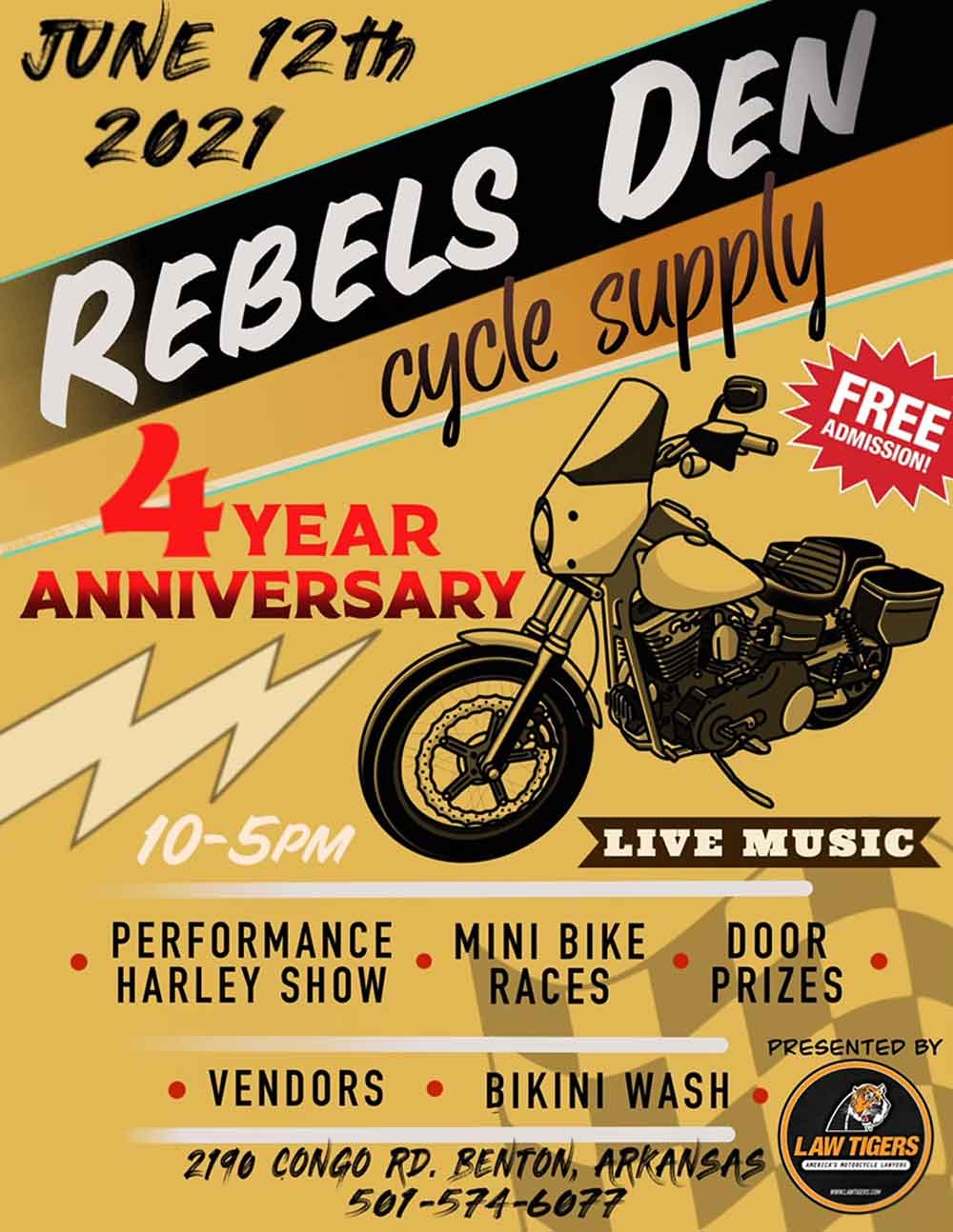 Rebels Den 4th Anniversary Rally