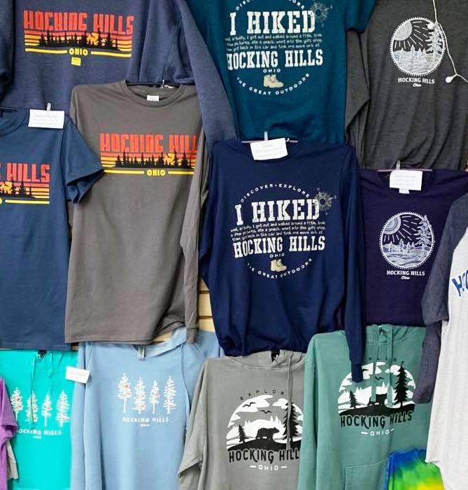 Hocking Hills shirts and sweatshirts