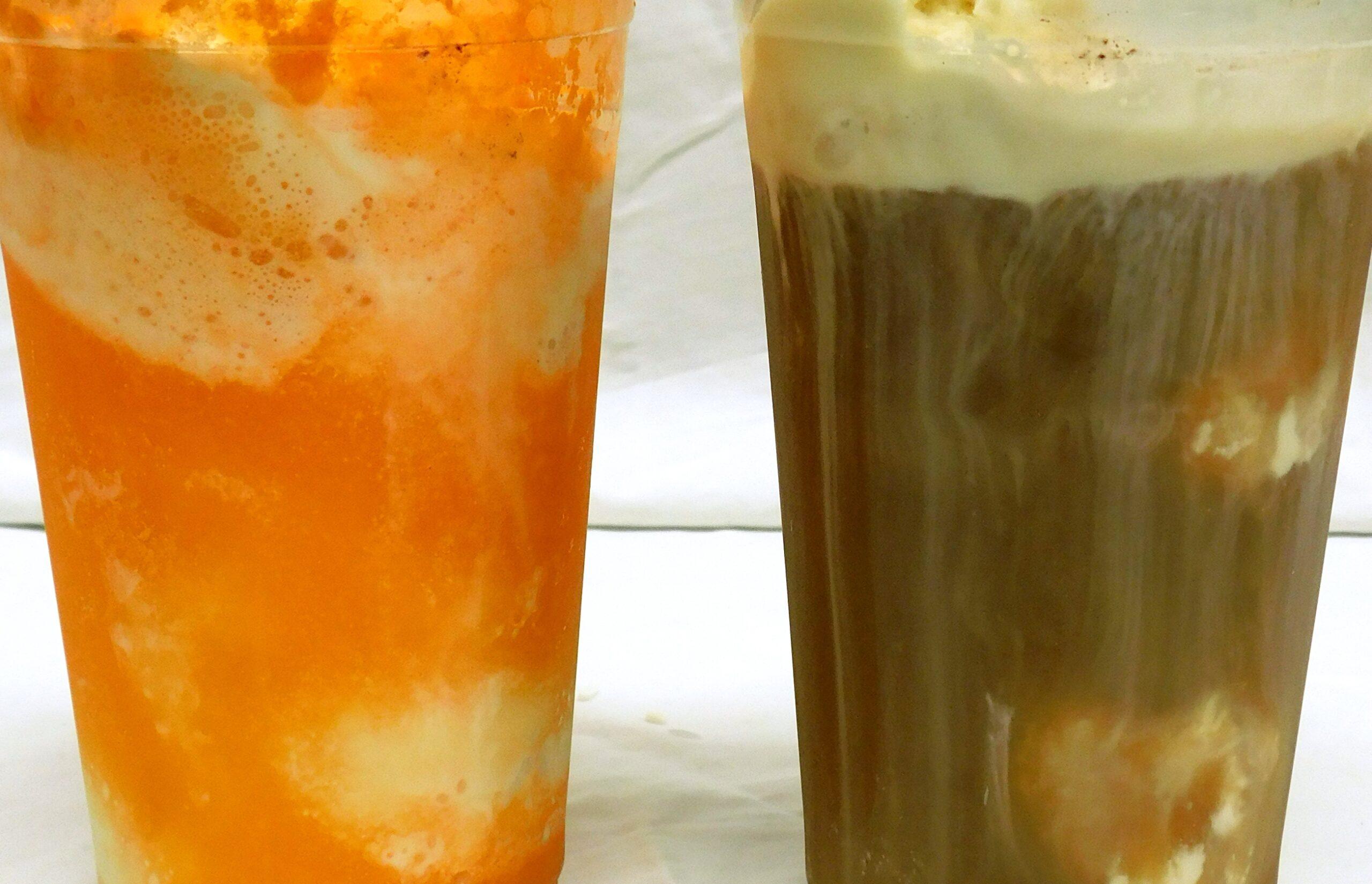 root beer and orange float