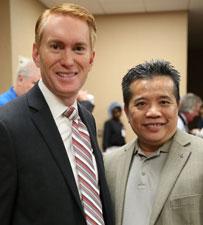Tony with Senator Lankford
