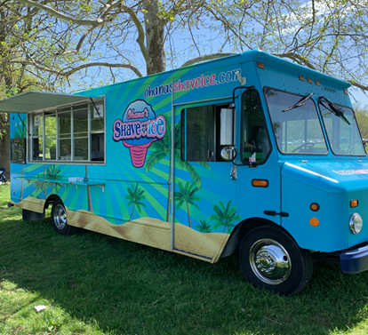 deliver truck shave ice event catering