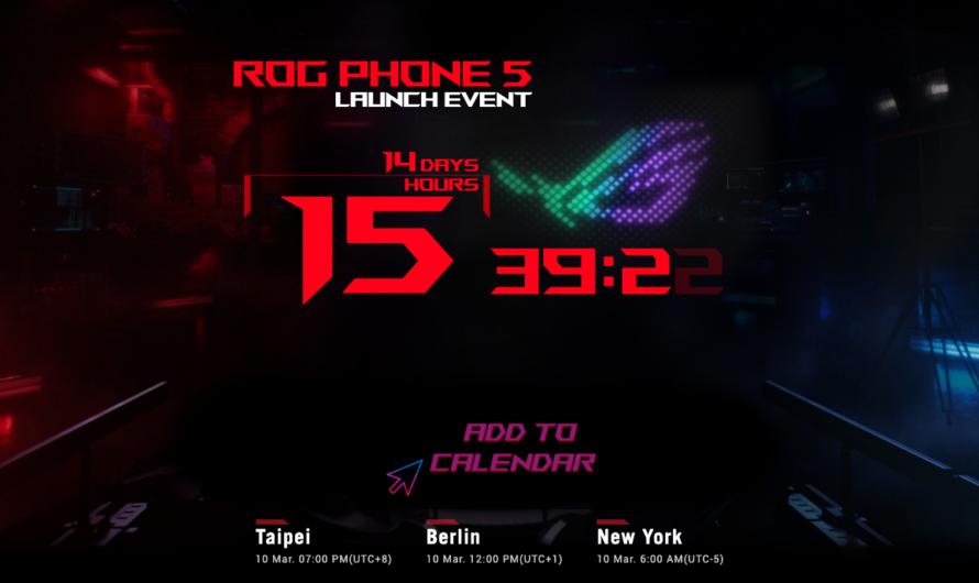 El ASUS ROG Phone 5 se presentará éste el 10 de marzo