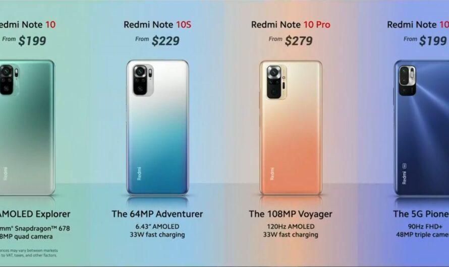 Entérate de los detalles del lanzamiento Redmi Note 10 Series