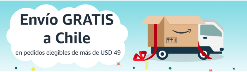 Envios GRATIS de EEUU a Chile a través de Amazon!