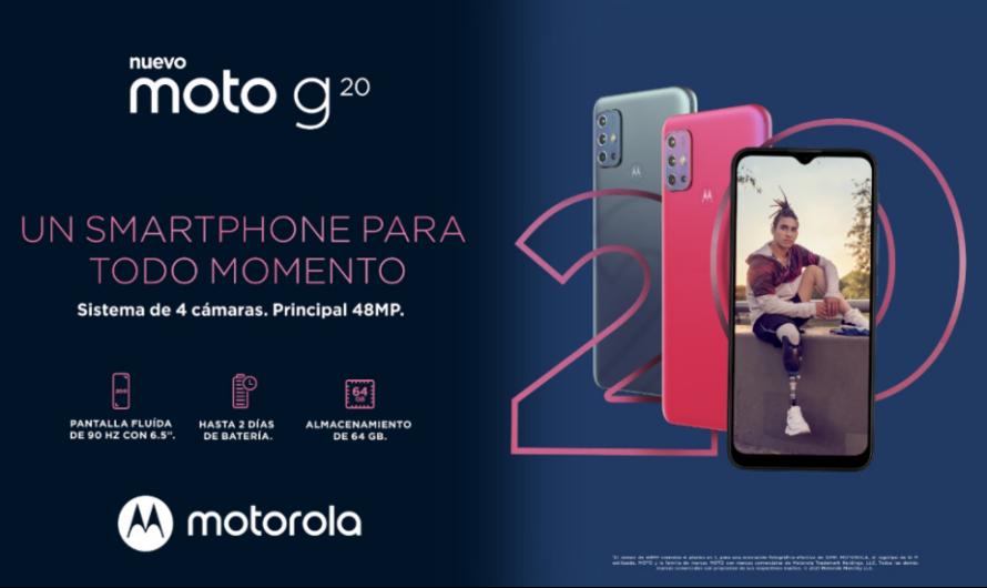 Llega a Chile el nuevo moto g20 Buscas un smartphone para todo momento ¡Lo tienes!