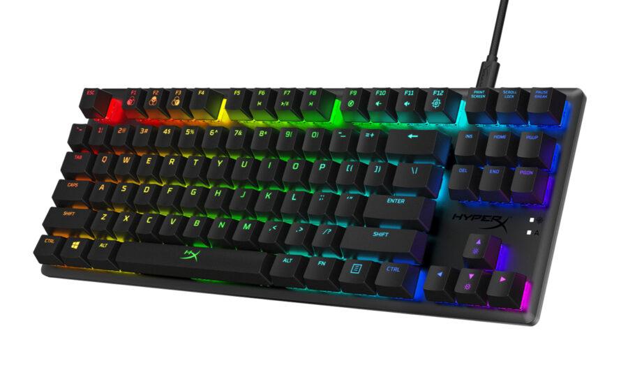 HyperX agrega los interruptores mecánicos Blue a su línea de teclados Alloy Origins Core