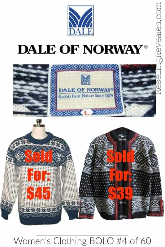 used dale of norway clothing on ebay