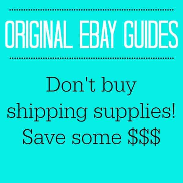 DON'T BUY SHIPPING SUPPLIES! SAVE SOME $$$!