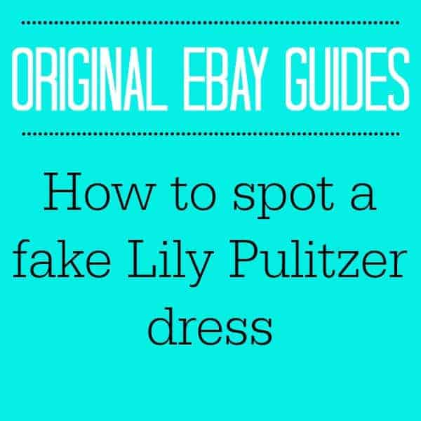 HOW TO SPOT A FAKE LILLY PULITZER DRESS