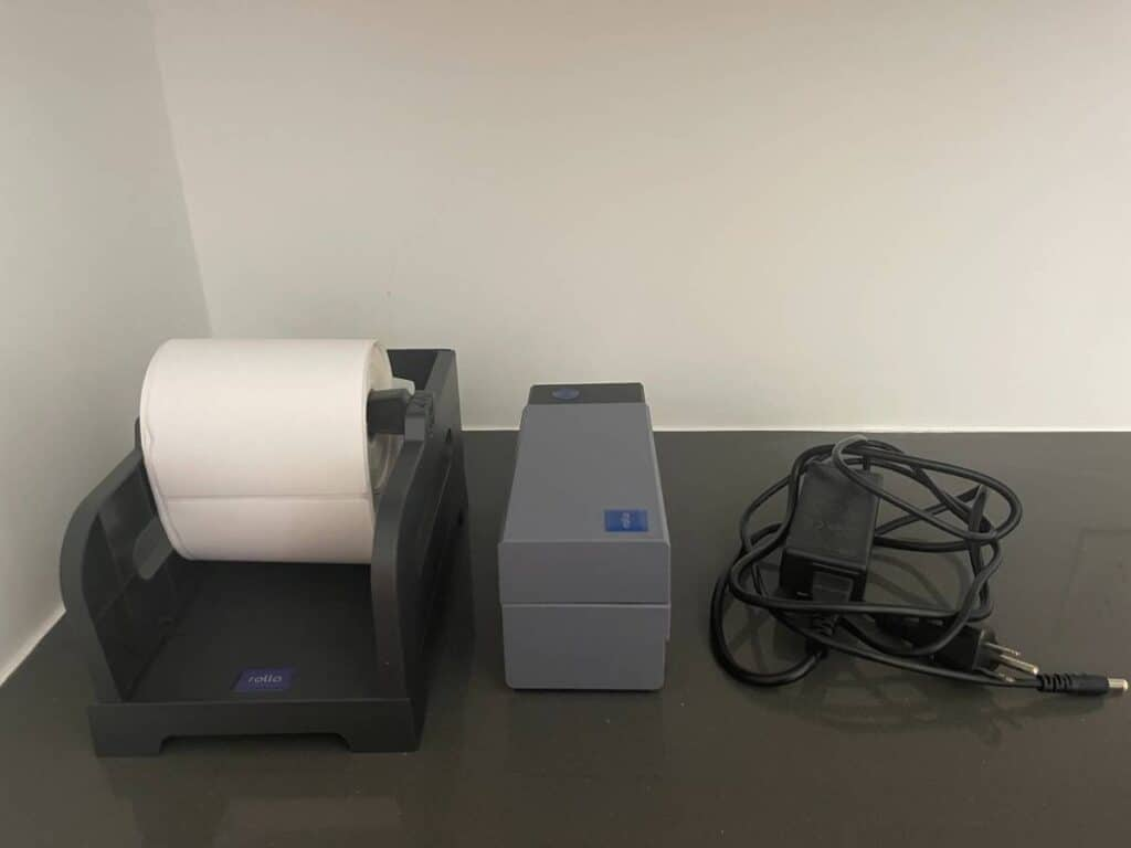 the best thermal label printer for Mercari on a table