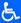 Logo for handicap accessible
