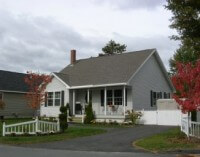 One story home in the Harriet Way subdivision, Greater Brunswick area, Maine.