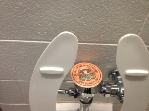 They even installed coasters on the toilets!