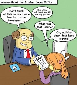 Cartoon by Devin Beauregard.