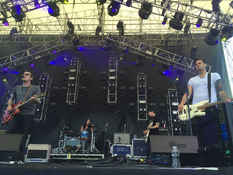 The Gaslight Anthem performing at Gathering of the Vibes in 2015.