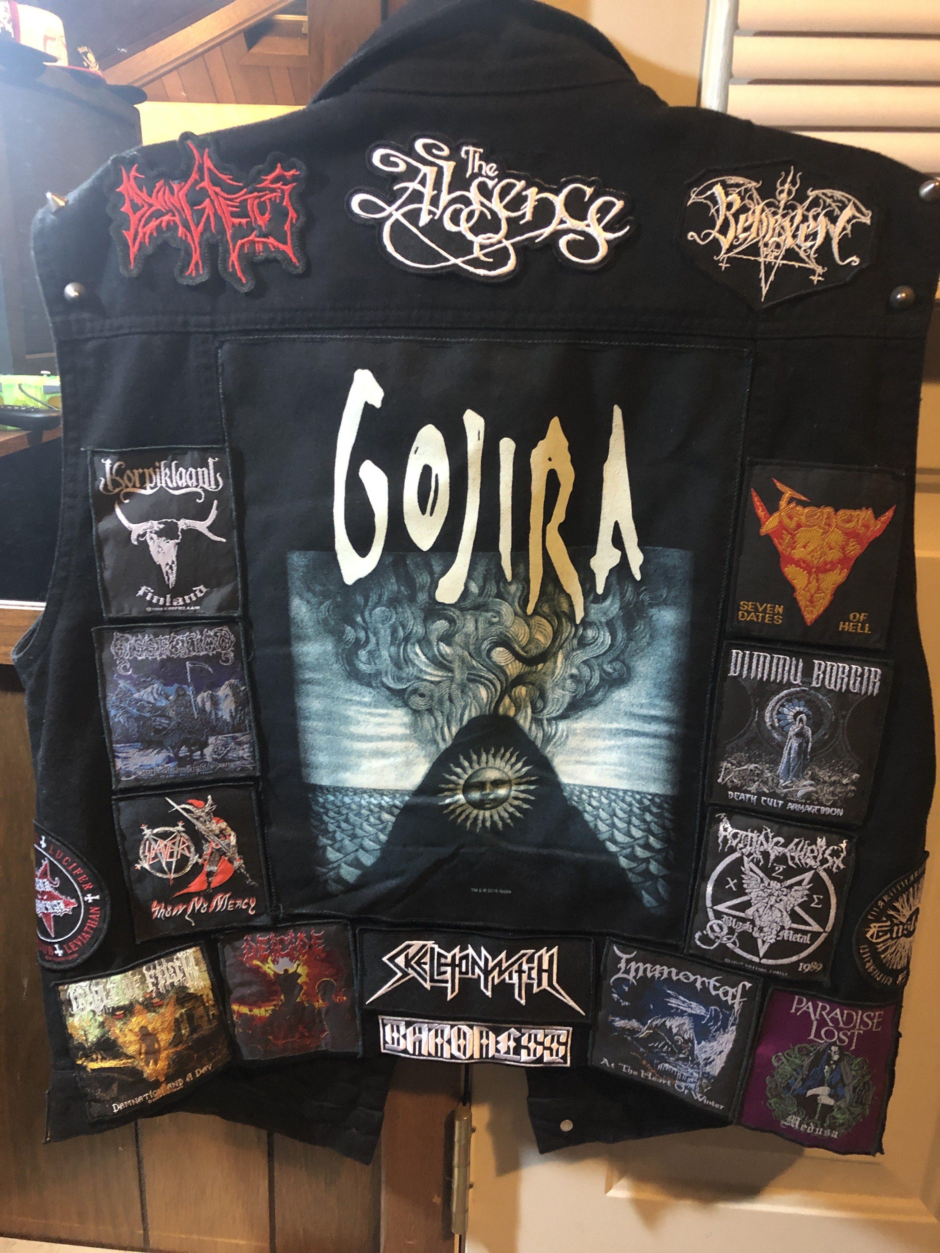 gojira backpatch