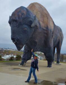 Sara North Dakota World's Largest Buffalo