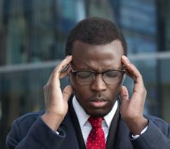 Man having headache