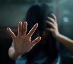 Woman in stress