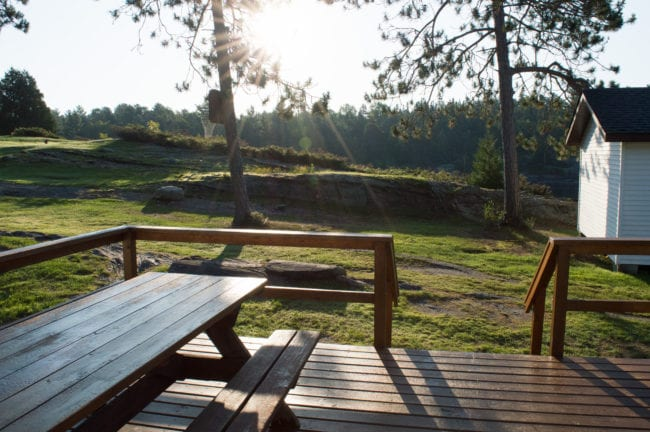 Summer Sunrise, Bear Cub, French RIver Scenery, Ontario Canada Outdoors, Bear's Den Lodge, French River Cottage Country