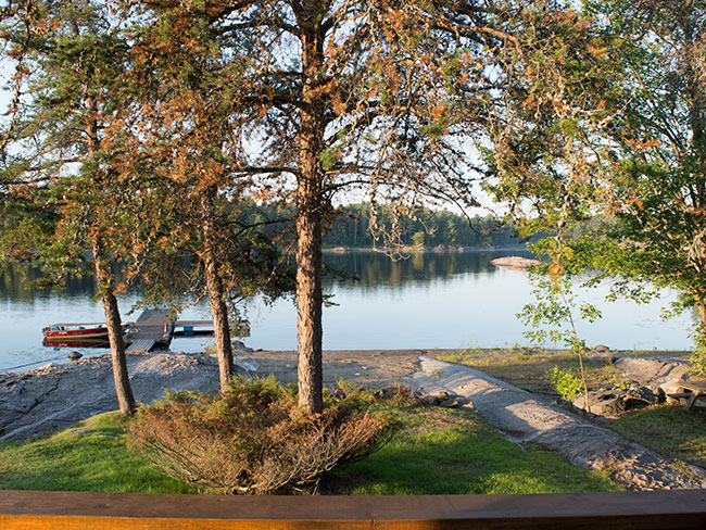 Fishing resort and housing, French River Ontario Park