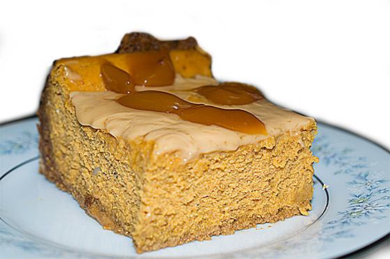 Pumpkin Ginger Cheesecake by Arthur Barefoot, photo by Joe Barefoot