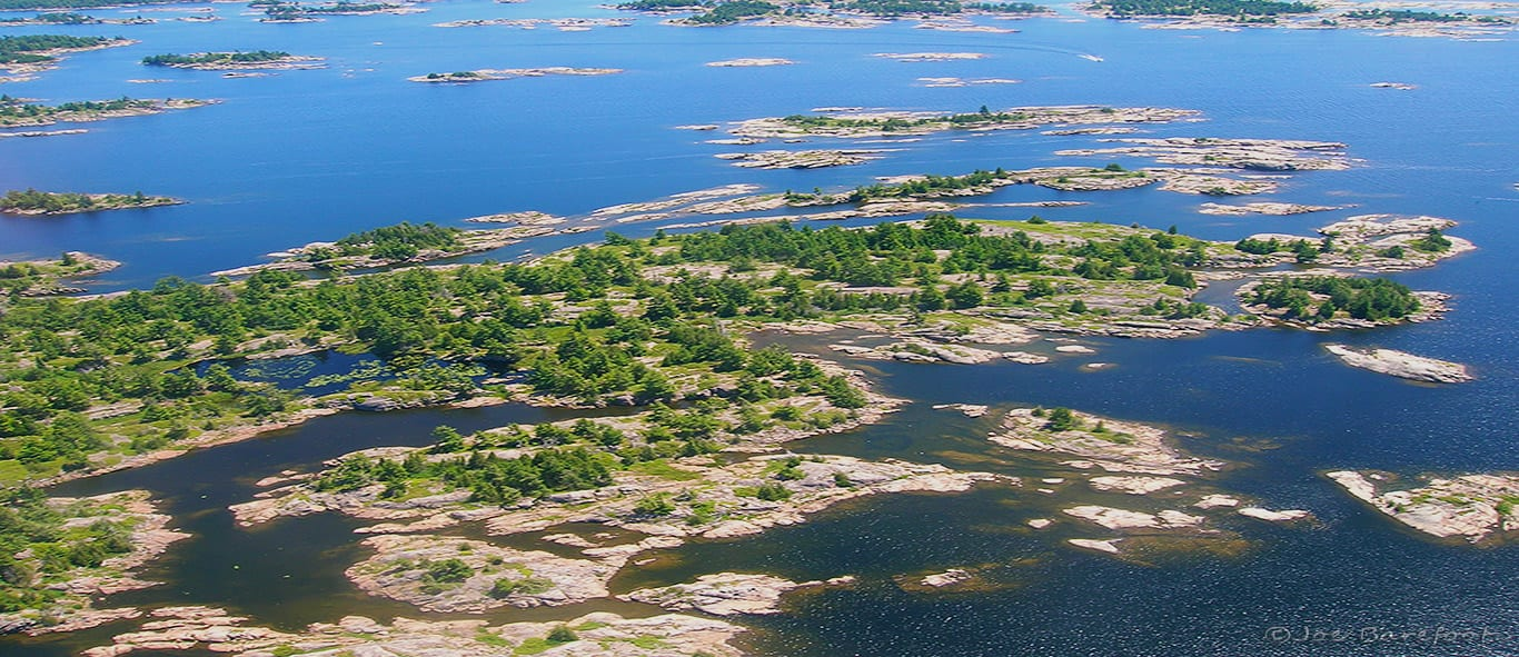 Georgian Bay Bird's Eye Photo from the exit of the French River Delta