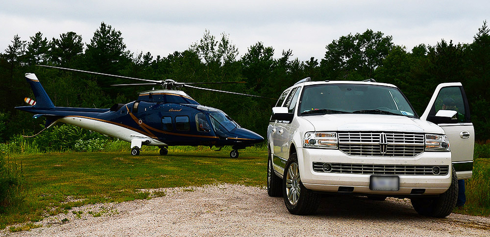 Lincoln, Helicopter, Landing, French River Ontario Park, Directions