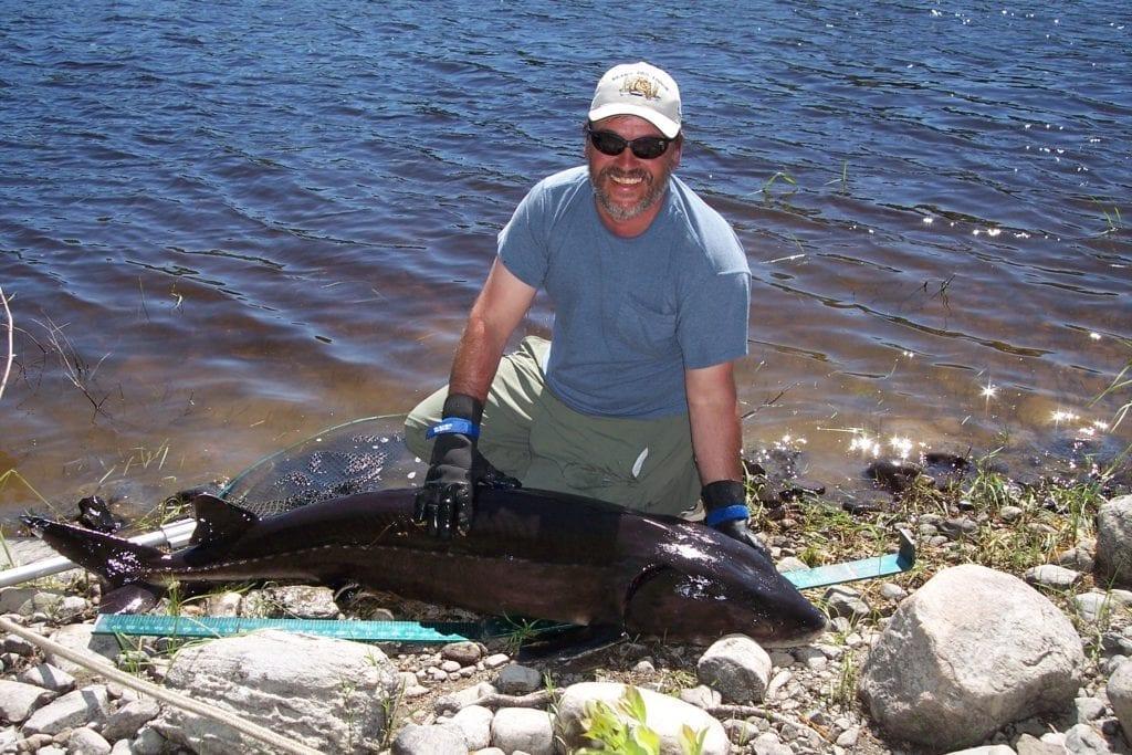 French River Sturgeon, Fishing Ontario Canada