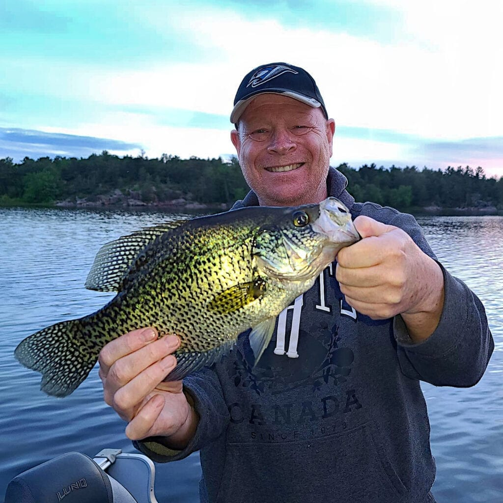Spring time Fishing French River Ontario Black Crappie