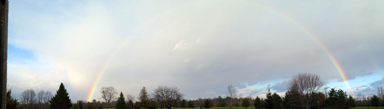 Rainbow over hole 9
