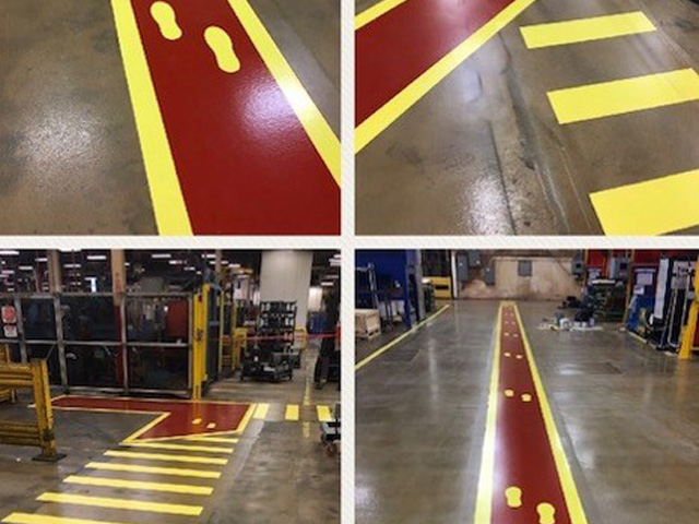 red walkways