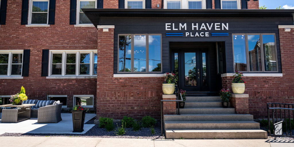 Elm Haven Place Blog Image showing the exterior entrance of our independent senior living apartments in Elmwood, IL