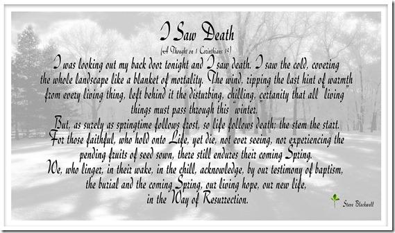 I Saw Death 12-6-2013