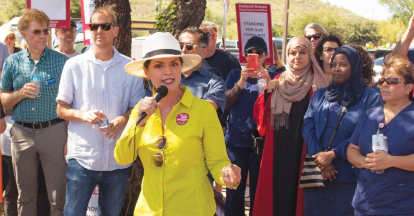 We talk with Tucson Mayoral candidate Regina Romero before she speaks at the Tucson Climate Rally on Sept. 20.