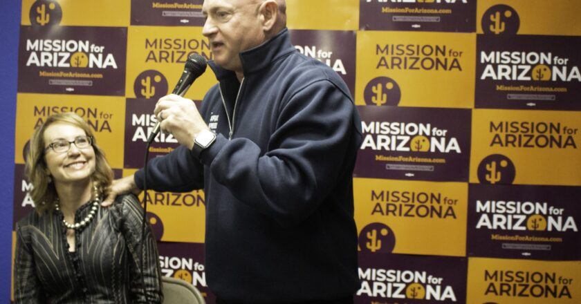Mark Kelly talks about his healthcare platform to the Aztec Press.