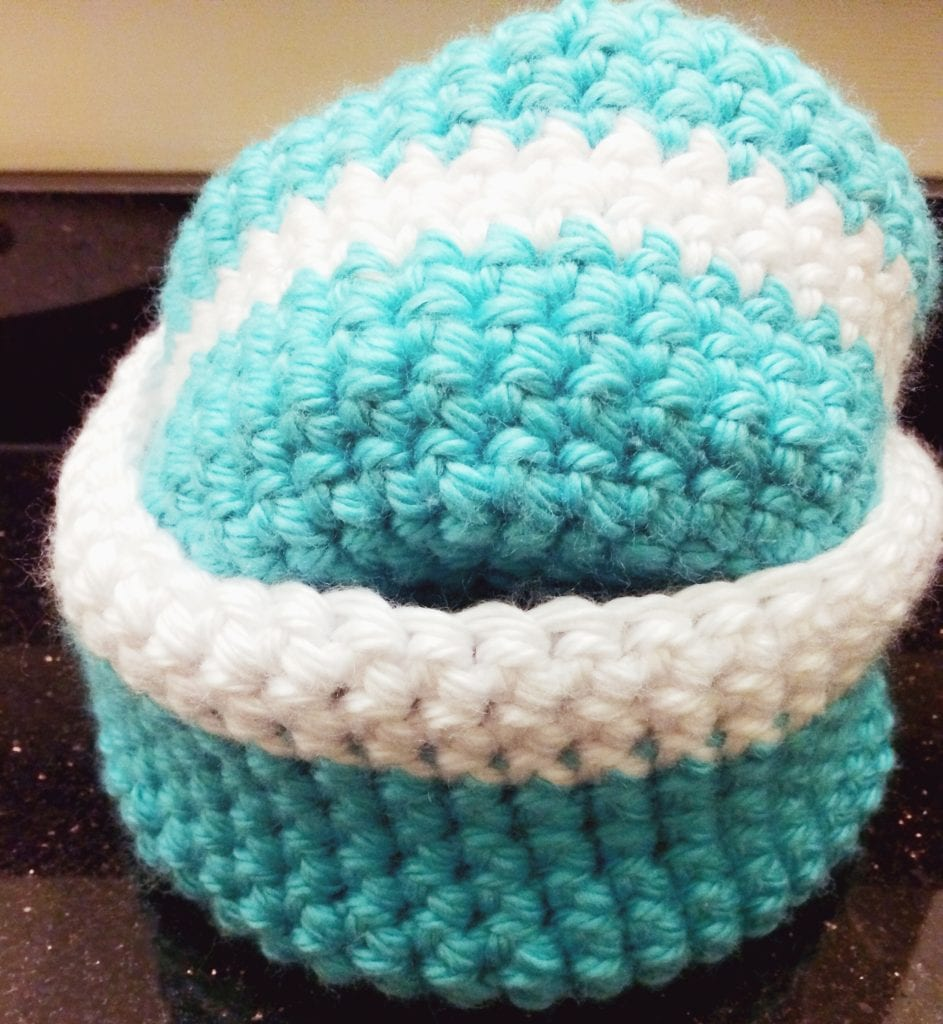 Medium and large crochet basket