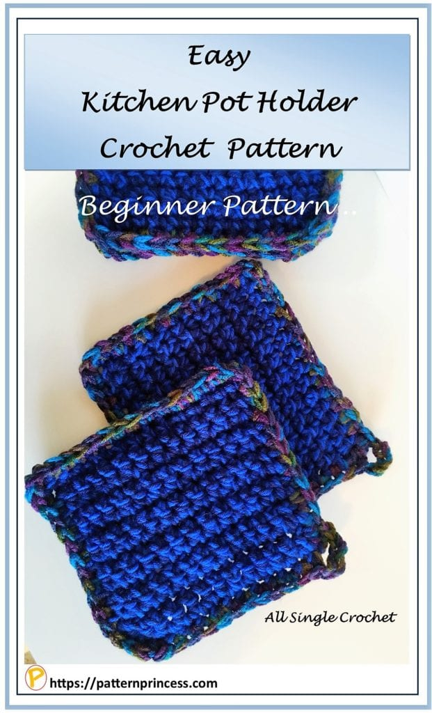 Easy Kitchen Pot Holder Crochet Pattern