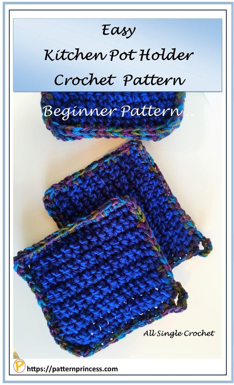 Easy Kitchen Pot Holder Crochet Pattern