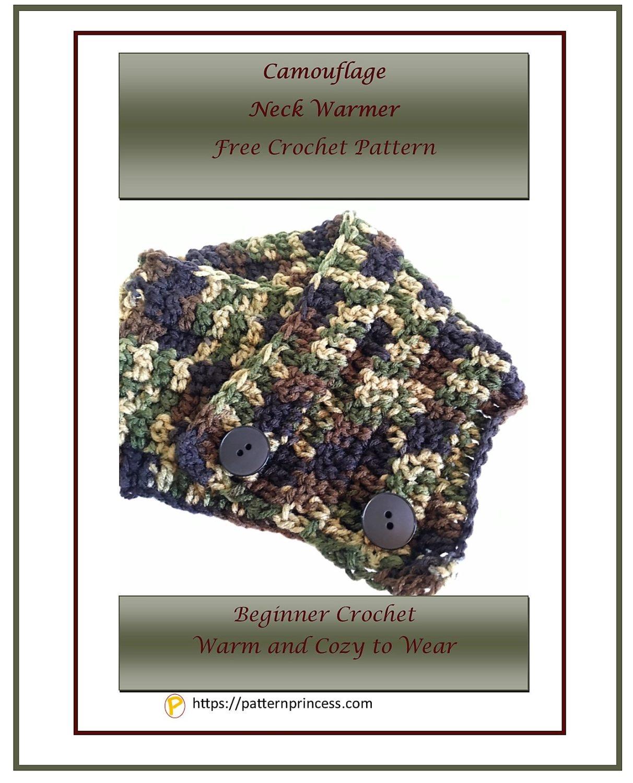 Camouflage Neck Warmer Free Crochet Pattern 1