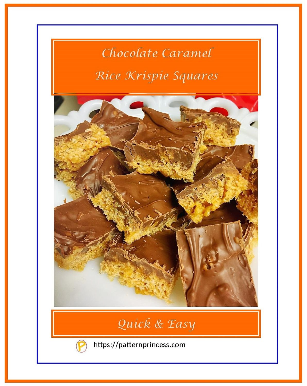 Chocolate Caramel Rice Krispie Squares 1