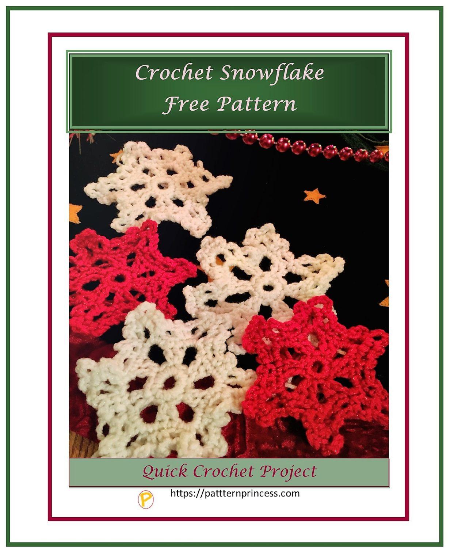 Crochet Snowflake Free Pattern 1