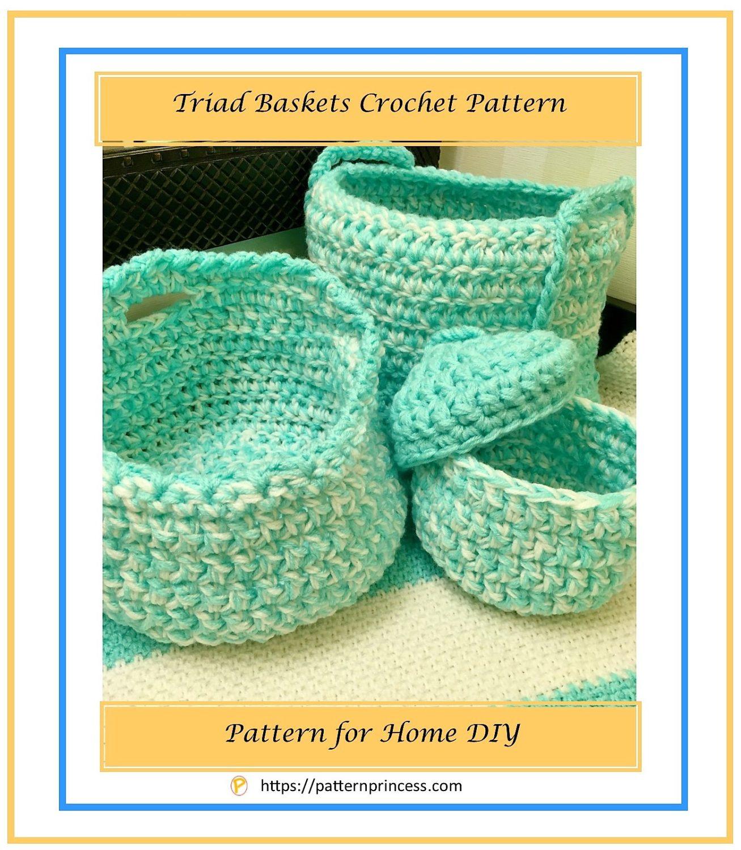 Triad Baskets Crochet Pattern 1