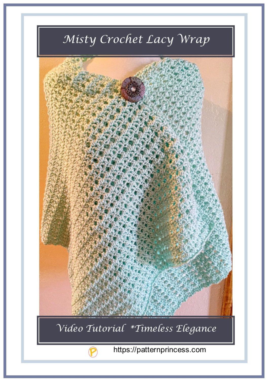Misty Crochet Lacy Wrap 1